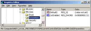 The registry value OplocksDisabled isn't present, meaning the value is set to 0. Opportunistic locking is enabled.